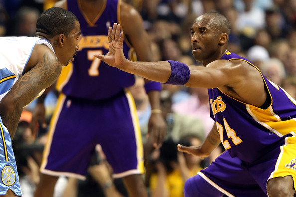 Kobe Bryant Playing Man to Man Defense