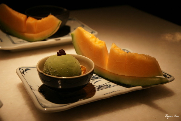 明水三井-抹茶冰淇淋+哈密瓜