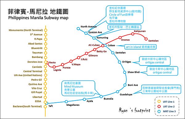 菲律賓 馬尼拉地鐵圖3號線.png