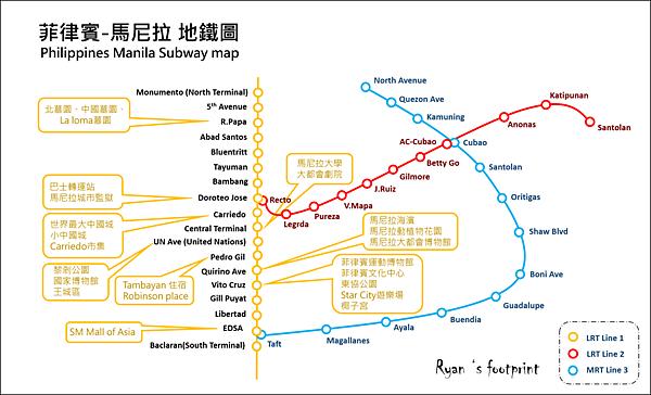 菲律賓 馬尼拉地鐵圖1號線.png