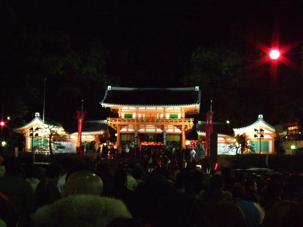 夜裡的八阪神社