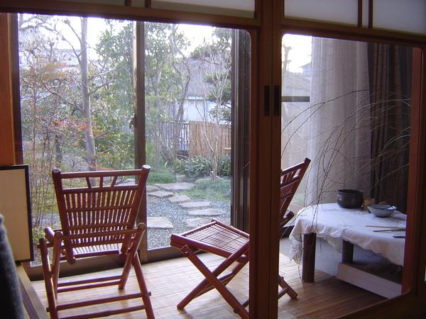 茶室邊的賞景區