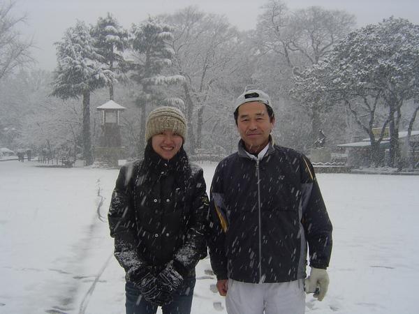 在公園遇到會講一點中文的日本人