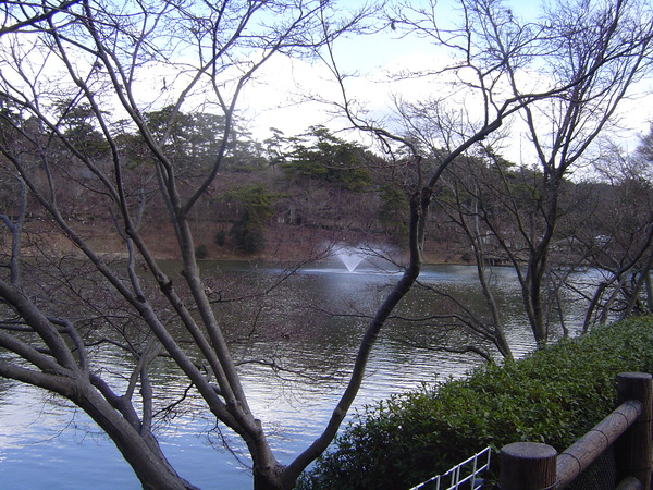 公園內噴水池