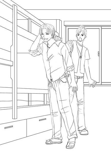 《田僑仔室友》第二代草圖