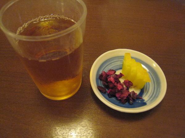 hisago前菜與麥茶