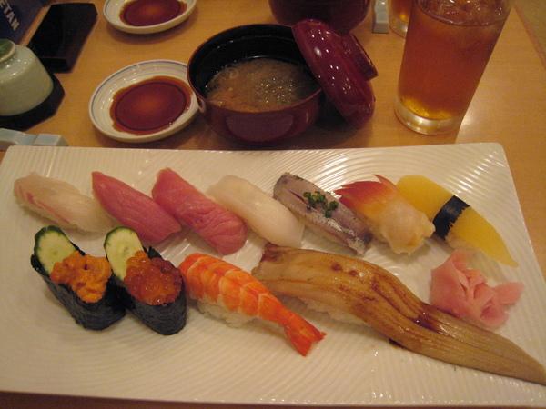 壽司清的壽司套餐全貌