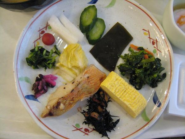 京都二塔飯店的早餐─日式部分