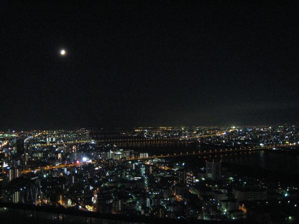 空中展望台的大阪夜景