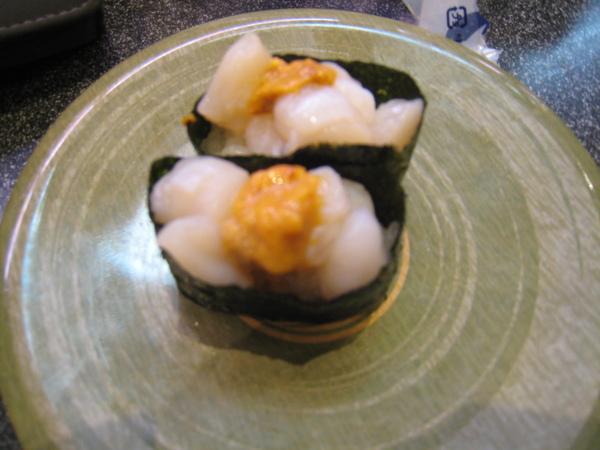 生貝柱+海膽