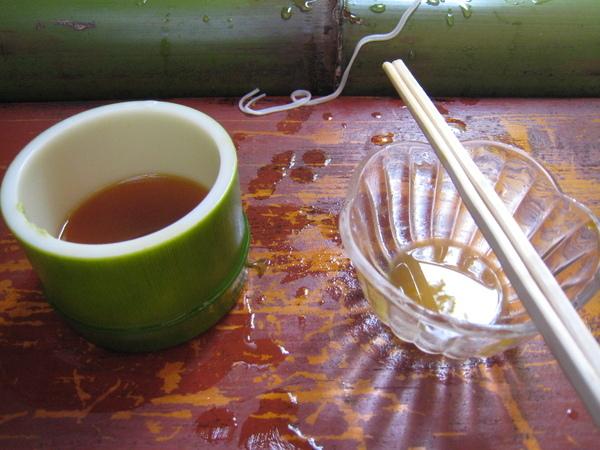 醬汁與溫泉蛋