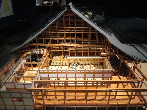 大阪民居結構圖模型