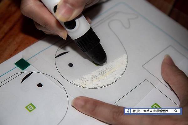 da Vinci 3D Pen Cool-3D立體筆連續出料模式,方便於大面積創作