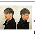 男生短髮染髮  鐵灰色
