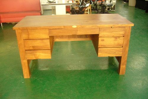 柚木書桌-宏品二手家具