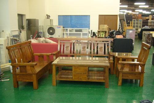 柚木沙發 實木頭椅
