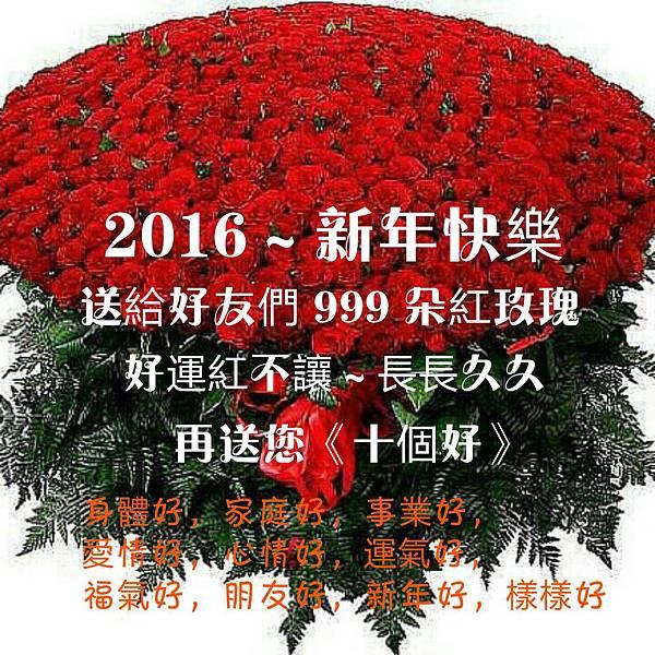 新年快樂999玫瑰