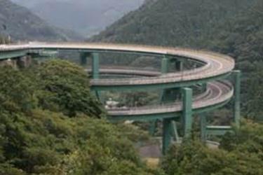 伊豆公路之繩捲狀橋樑