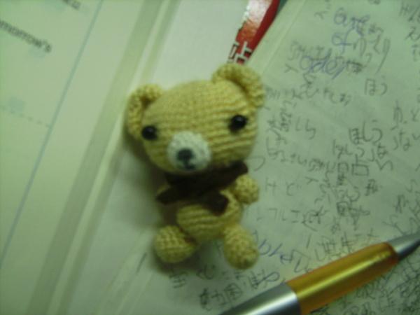 狗蛋學弟送我的可愛小熊:)