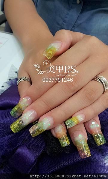 琉璃水晶指甲