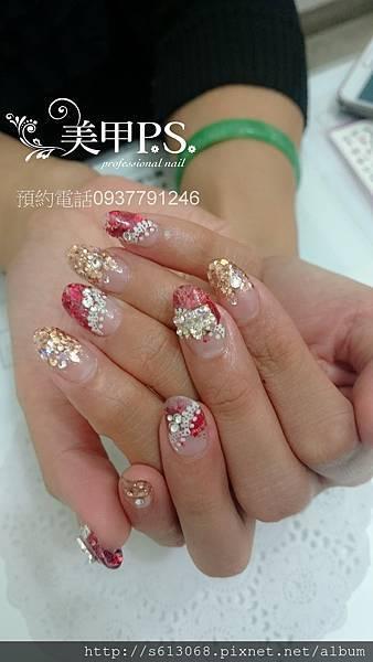 水晶指甲-雙色
