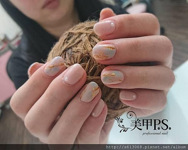 台中光療指甲課程 暈染美甲