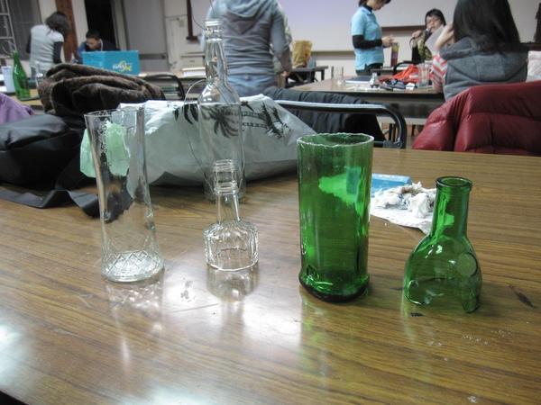 割玻璃瓶子