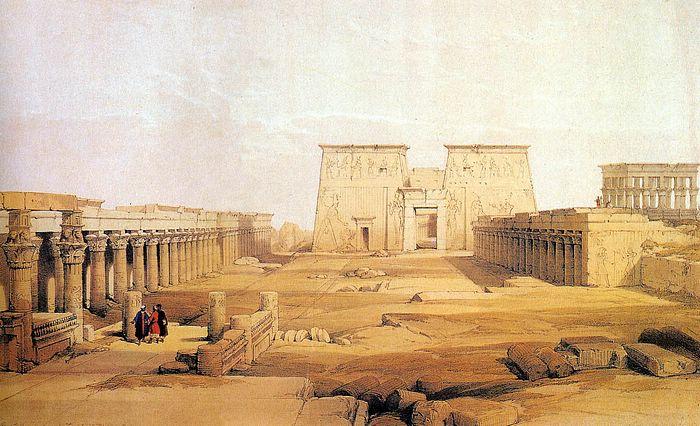 DavidRoberts-ViewOfPhilae_1838