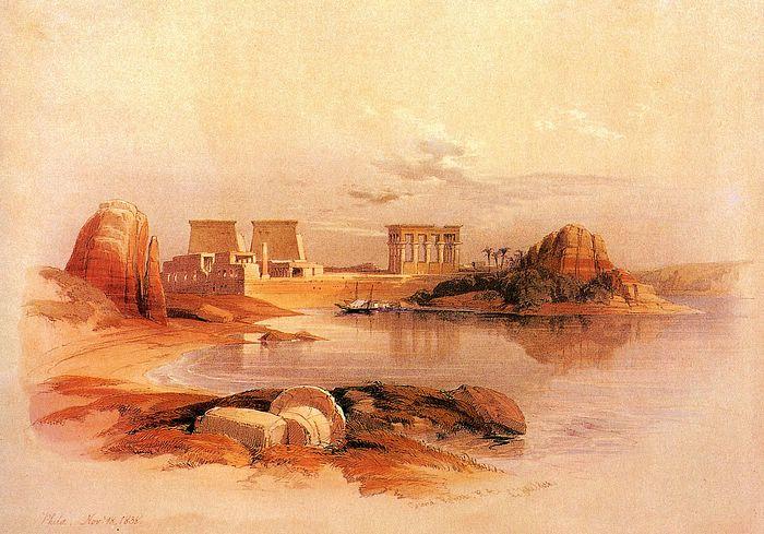 DavidRoberts-ViewOfPhilaeFromNile_1838