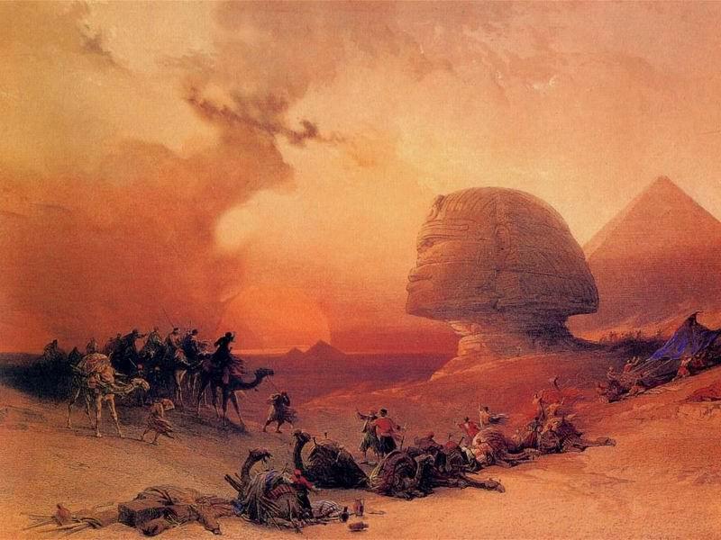 DavidRoberts-StormInTheDesert_1838