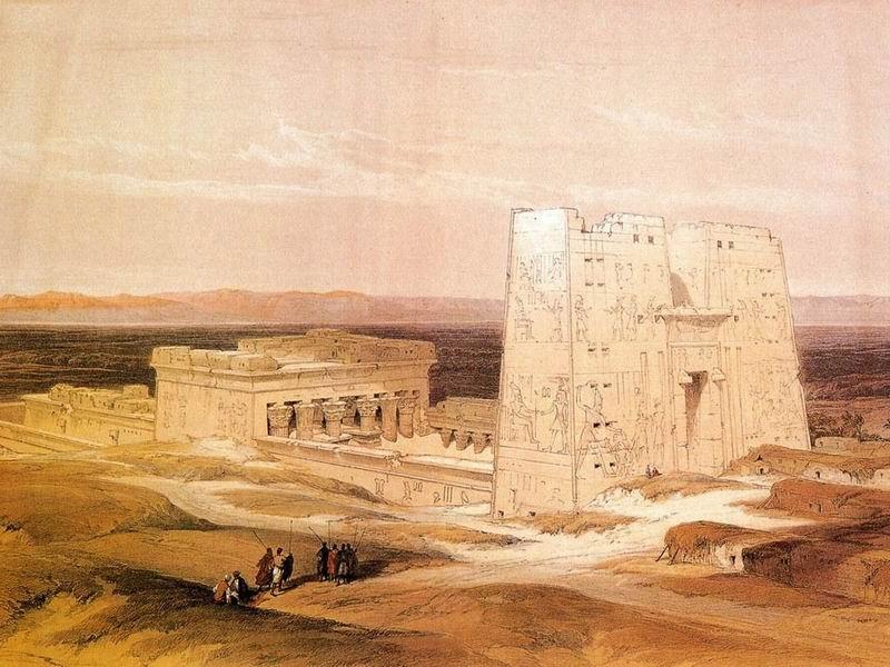 DavidRoberts-Apolinopolis_TempleOfEdfu_1838