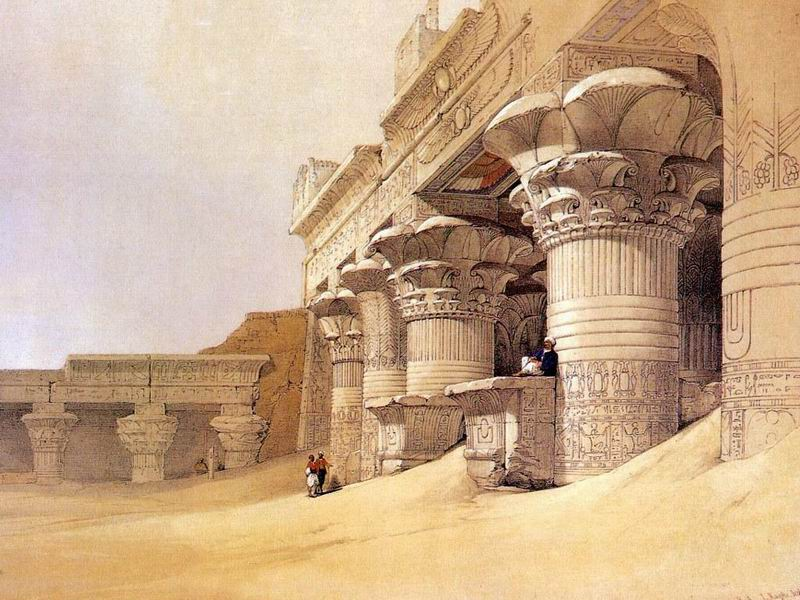 DavidRoberts-FacadeTempleEdfu_1838