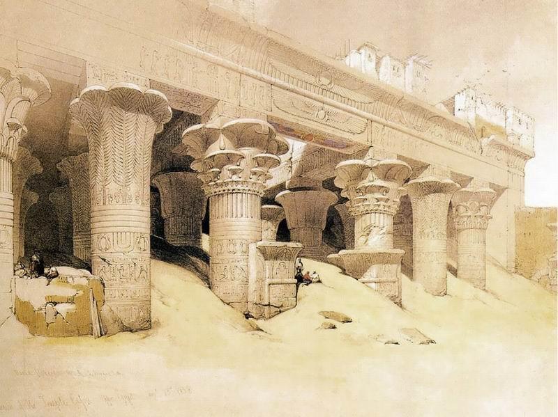 DavidRoberts-Portico_TempleOfEdfu_1838