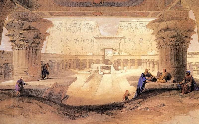 DavidRoberts-Panorama_TempleOfEdfu_1838