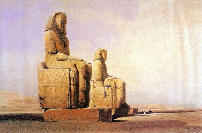 DavidRoberts-ColossalStatuesOfAmenofisIII_1838