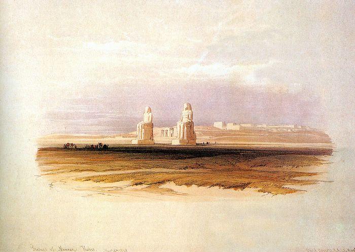 DavidRoberts-StatuesOfMemnon_1838