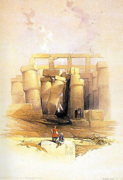 DavidRoberts-KarnakViewFromEast_1838