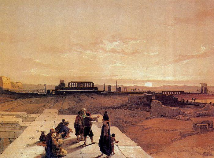 DavidRoberts-ViewOfKarnak_1838