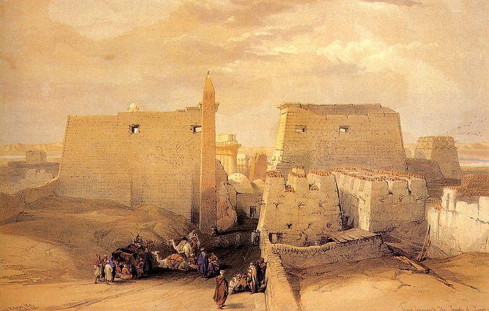 DavidRoberts-GrandEntranceTempleLuxor_1838