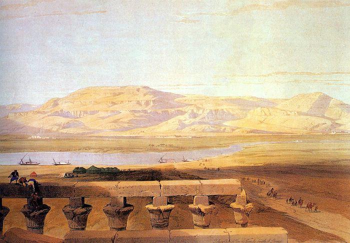 DavidRoberts-LibyanMountainsSeenFromLuxor_1838