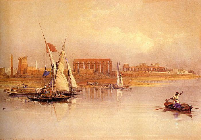 DavidRoberts-LuxorSeenFromTheNile_1838