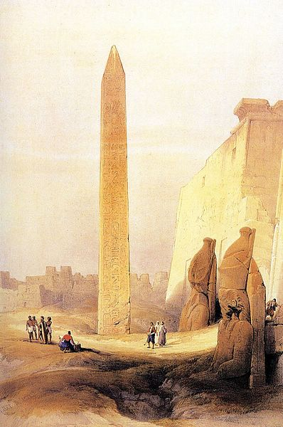DavidRoberts-ObeliskOfLuxor_1838