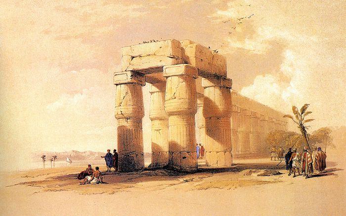 DavidRoberts-TheGreatTempleOfLuxor_1838