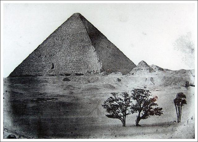 Égypte Moyenne. Pyramide de Chéops, 1849
