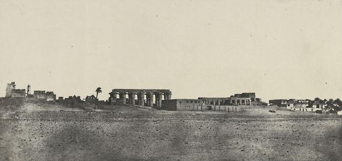 Thèbes. Louqsor, vue générale des ruines, 1850