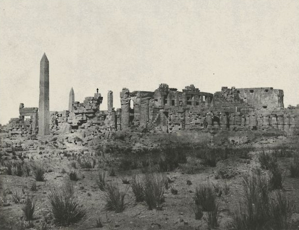 Thèbes. Palais de Karnak, vue générale des ruines, prise au nord, 1852