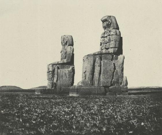 Thèbes. Gournah, les colosses, 1852