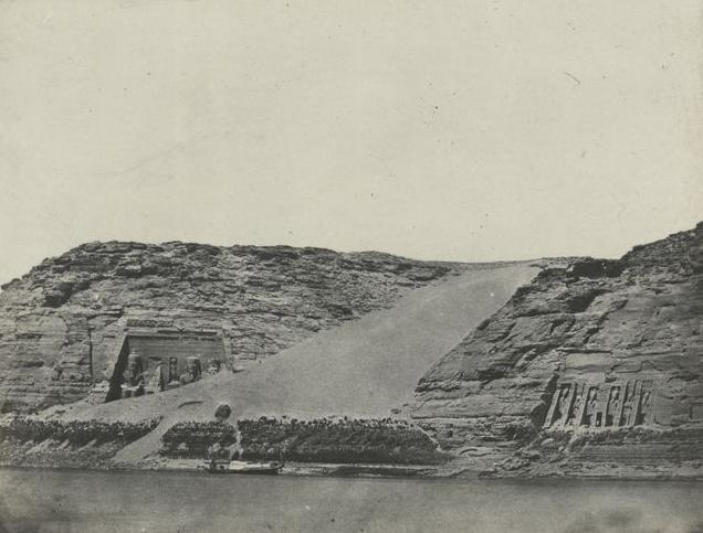 Nubie. Ibsamboul, les deux spéos, 1850