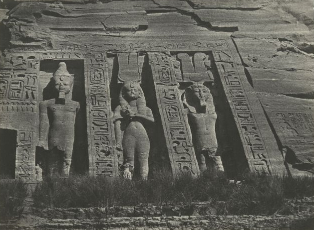 Nubie. Ibsamboul, partie septentrionale du spéos de d'Hathor, 1850