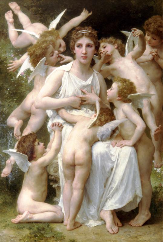 William-Adolphe Bouguereau ~ L'Assaut(襲擾)
